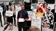 A wide range of consumer, family farm, environmental, Internet freedom, labor and other organizations held a press event outside the Trans-Atlantic Free Trade Agreement (TAFTA) negotiating summit in Arlington, Virginia on May […]