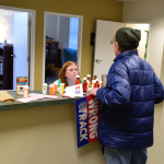 Delivering empty pill bottles to Rep. Blumenauer