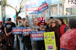 Rally at Rep. DelBene's office