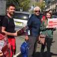 As shareholders of the banking firm Wells Fargo met in Des Moines, Iowa on April 24th, over a dozen labor and fair trade advocates held an informational picket outside a […]