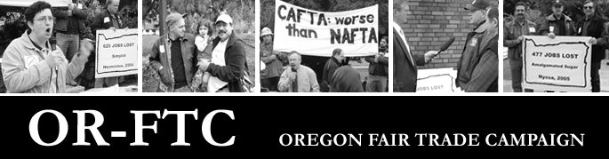 Oregon Fair Trade Campaign Banner